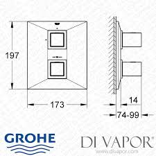 Grohe Shower Valves Grohe 19791000 Allure Brilliant Thermostatic Shower Mixer Valve