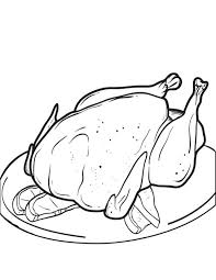free printable cooked thanksgiving turkey coloring kids 2