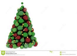 tree made of tree balls stock illustration