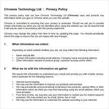 sample privacy policy sample 7 free documents in pdf
