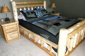 Cedar Log Bedroom Furniture by Custom Rustic Cedar Log Beds