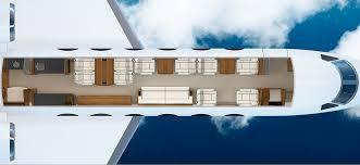 Private Jet Floor Plans Gulfstream 450gold Aviation