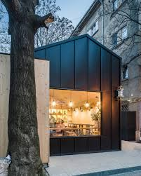 bucharest juice bar cabin by not a number architects