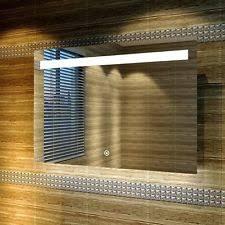 Heated Bathroom Mirror by Led Backlit Bathroom Mirror Opticon Led Illuminated Bathroom