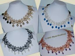wire lace pdf crocheted wire shell lace necklace tutorial how to make a