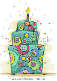 design a cake 3d illustration pink tiered birthday cake stock illustration