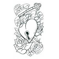 heart locket tattoo sketch photos pictures and sketches