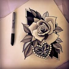 diamond tattoo neo traditional neo traditional rose google search art pinterest neo