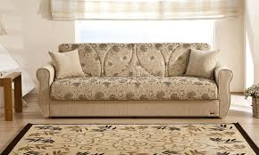 Chenille Sleeper Sofa Melody Yasemin Sleeper Sofa In Beige Chenille By Sunset