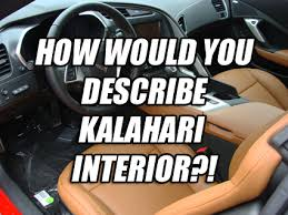 describing kalahari interior corvetteforum chevrolet
