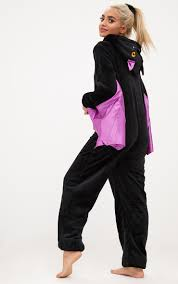 bat hoodie spirit halloween bat onesie nightwear u0026 onesies prettylittlething usa