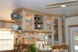 kitchen cabinet wine rack home design