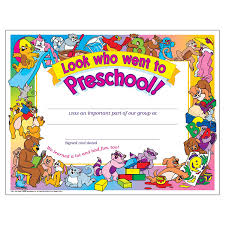 preschool certificates look who went to preschool certificate 30 pack