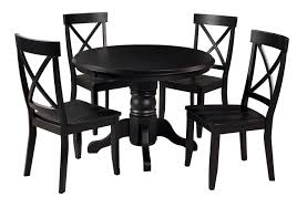 Black And White Dining Room Chairs by Amazon Com Home Styles 5178 318 5 Piece Dining Set Black Finish