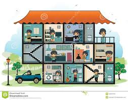 rooms in the house various rooms in the house stock vector illustration of green