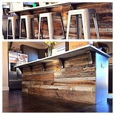 kitchen island made from reclaimed wood 34 awesome basement bar ideas and how to make it with low bugdet
