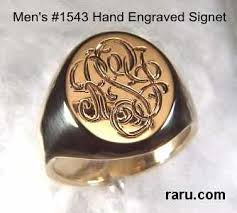 rings with initials signet rings traditional custom design with initials