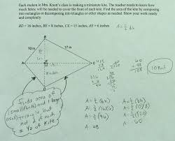 Area Of A Parallelogram Worksheet Area Of Kite Students Are Asked To Find The Area Of A Kite By