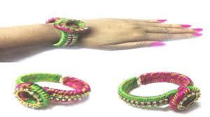 bracelet thread images How to make designer silk thread bracelet at home silk thread jpg