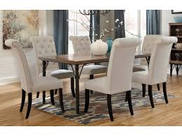dining table center rustic dining table 4 upholstered chairs tripton 5 pc dining