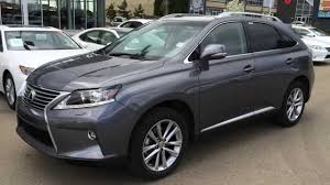 used lexus rx 350 hybrid 2015 lexus rx 350 awd grey on saddle tan touring package