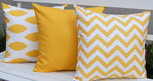Top Yellow And Grey Decorative Pillows With Decorative Throw