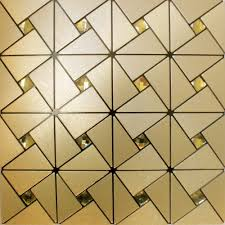 metal glass mosaic diamond brushed aluminum alucobond tile kitchen