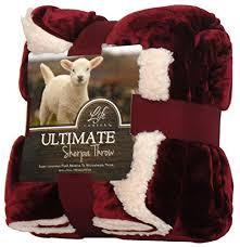 Life Comfort Blanket Costco Amazon Com Life Comfort Ultimate Sherpa Throw 60 In X 70 In