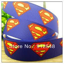 superman ribbon free shipping7 8 22mm superman printed grosgrain ribbon
