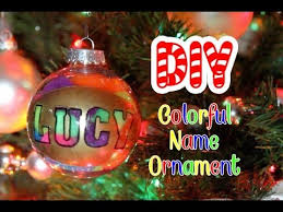 diy colorful name ornament lucykiins