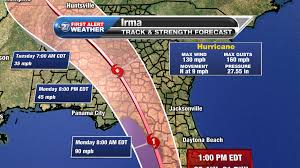 Local Weather Map Sunday 1 Pm Hurricane Irma Now Moving Northward Local Effects To