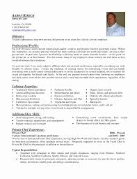 Chef Resume Templates by Fancy Personal Chef Resume Sle 71 For Resume Templates With
