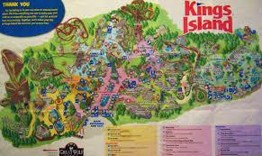 Busch Gardens Map Kings Island 2008 Theme Park Maps Pinterest Kings