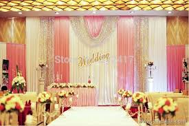 wedding backdrop curtains for sale aliexpress buy hotsale 10x20 white pink silver wedding
