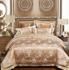 luxury gold bedding sets duvet cover set jacquard bedspreads satin