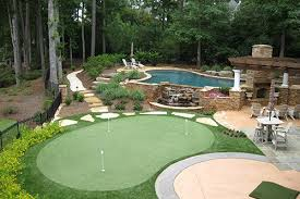 a backyard tour greens backyard putting green cost