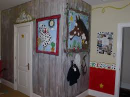 kids bedroom country cowboy style cute wall painting boy themed