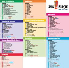 New England Map by Six Flags New England Maplets