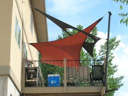 Custom Shade Canopies by Intersecting Shade Sails Over Raised Deck Wicked Shade Inc