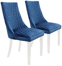Velvet Wingback Chair Chairs Blue Velvet Wingback Chair Tufted Dining Chairs
