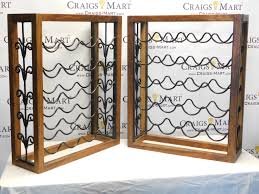 Wrought Iron Room Divider by Walnut U0026 Wrought Iron Wine Racks Craigs Mart