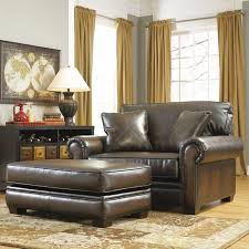 leather chair and a half with ottoman leather chair and a half