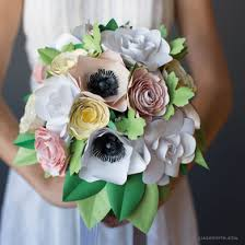 wedding flower bouquets patterns and tutorials to make paper wedding flowers at home