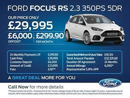 ford focus car deals focus rs finance 2016 focus rs finance options features