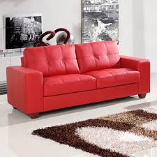 Red Leather 2 Seater Sofa Adorable Cheap Red Leather Sofa On Apartement Design Study Room