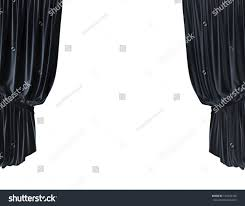 Stage With Curtains Empty Product Presentation Stage Curtains White Stock Illustration