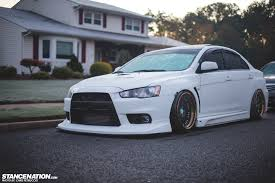 stanced mitsubishi galant evo x dynamite around the curves but juicy and expensive for some
