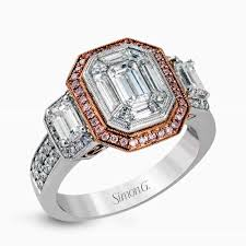 engagement rings rose gold and mixed metal trends