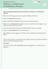 state pension non contributory application form welfare ie