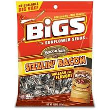 bigs bacon sunflower seeds sizzlin bacon flavored sunflower seeds one bag